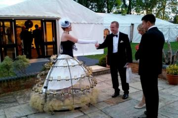 Helter Skelter Champagne skirt at wedding
