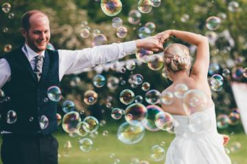 Helter Skelter wedding bubbles