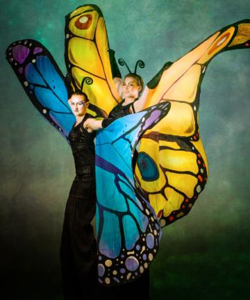 Butterfly Stilt Walkers