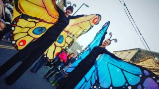 Butterfly stilt characters