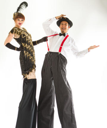 Helter Skelter Historical theme Gatsby Stilt Walker
