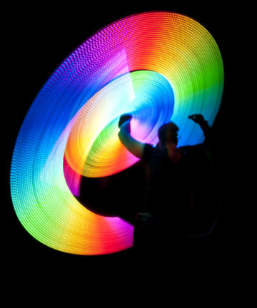 LED multicoloured light performance