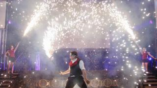 Pyrotechnic fire show