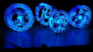 LED poi spinning performance